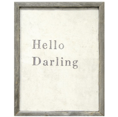 Hello Darling Sugarboo Sign