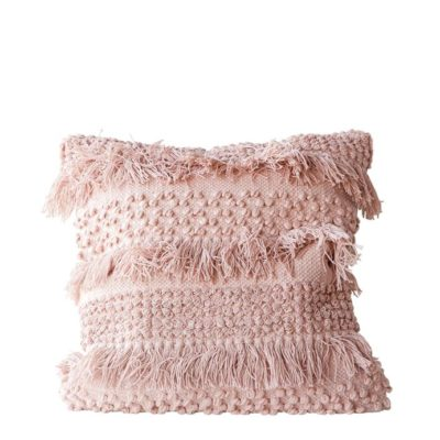 Fringed in Pink Pillow 6