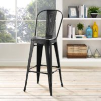 Steele Bar Stool | Black