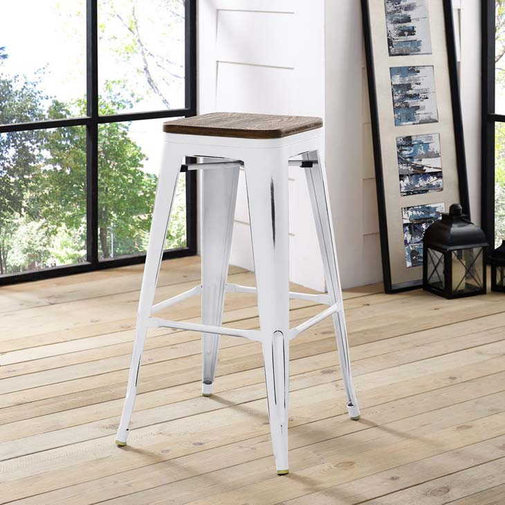 Steele Stool | White