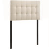 Lily Twin Upholstered Fabric Headboard 4