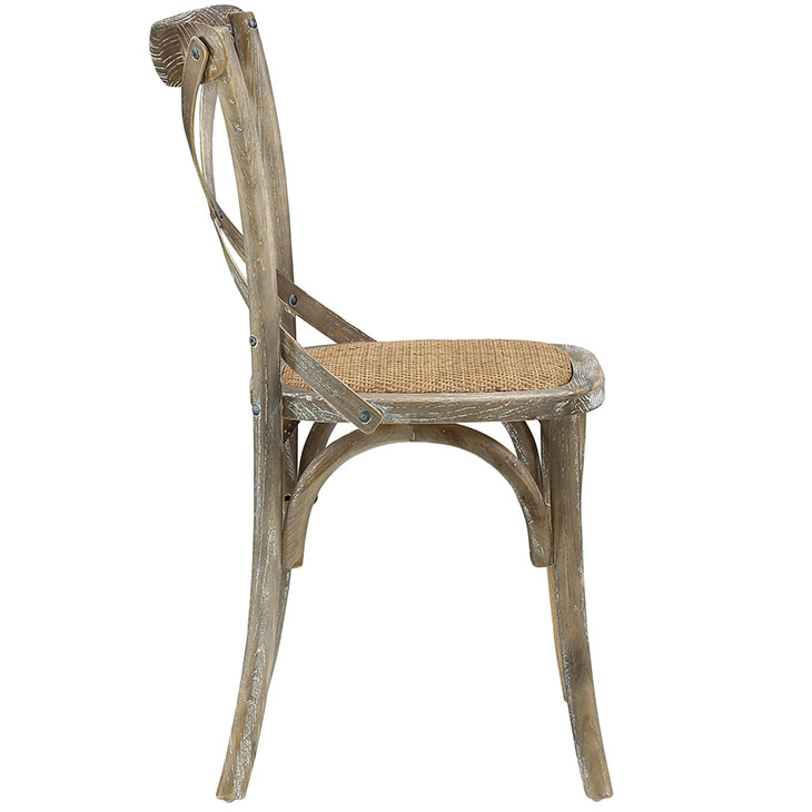 Crossback Farmhouse Chair | Gray