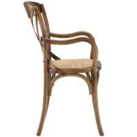 Crossback Farmhouse Arm Chair | Walnut