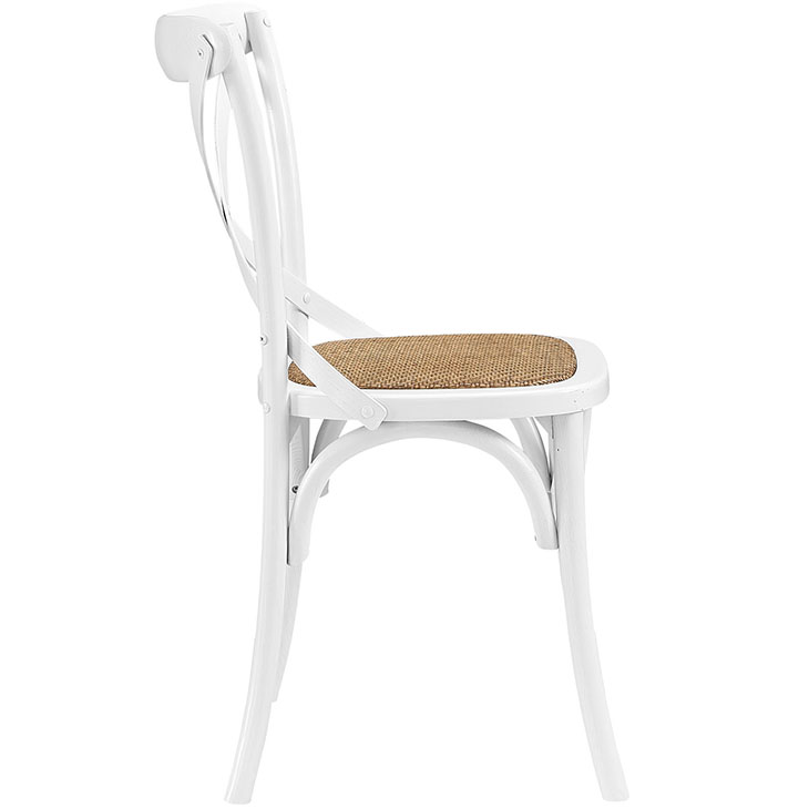 Crossback Farmhouse Chair | White