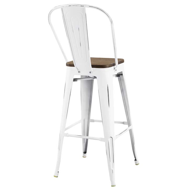 Steele Bar Stool | White