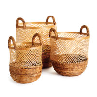 Kolaka Round Baskets, Set Of 3