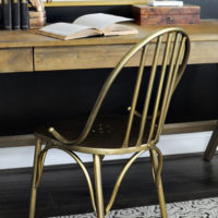 Antique Brass Farmhouse Chair