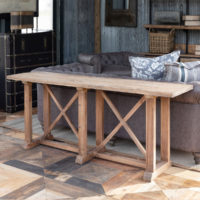 Bridges Reclaimed Oak & Pine Sofa Console