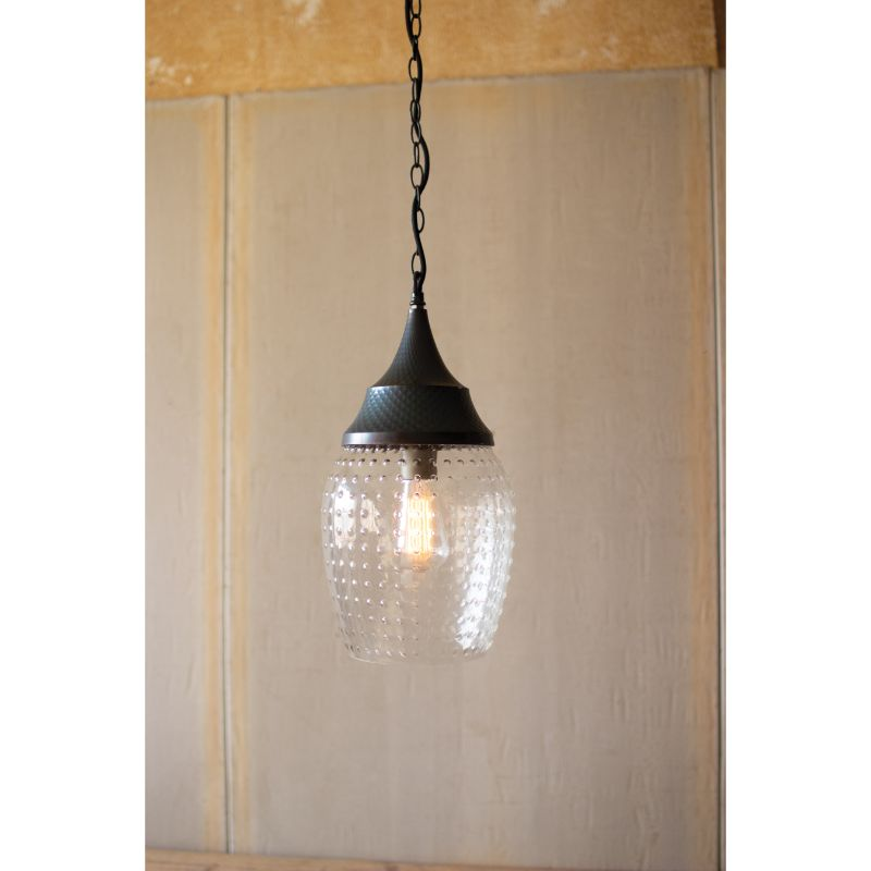Teardrop Glass Pendant Light