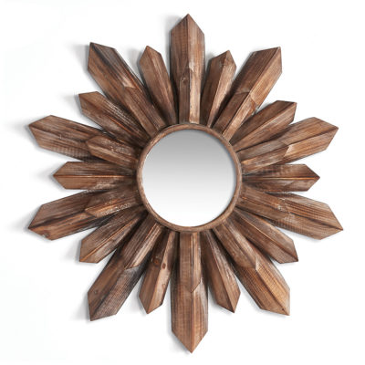 Wood Starburst Mirror