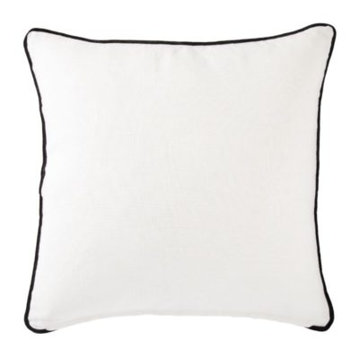 White + Black Geometric Down Throw Pillow