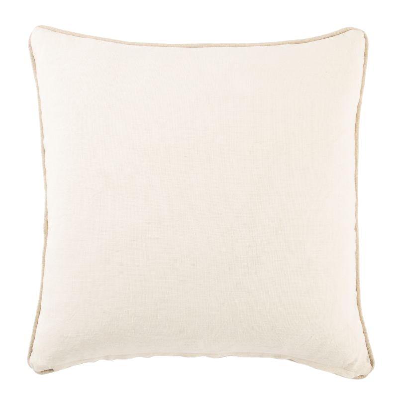 Beige + White Ikat Down Throw Pillow