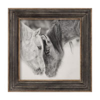 Custom Black And White Horses Print