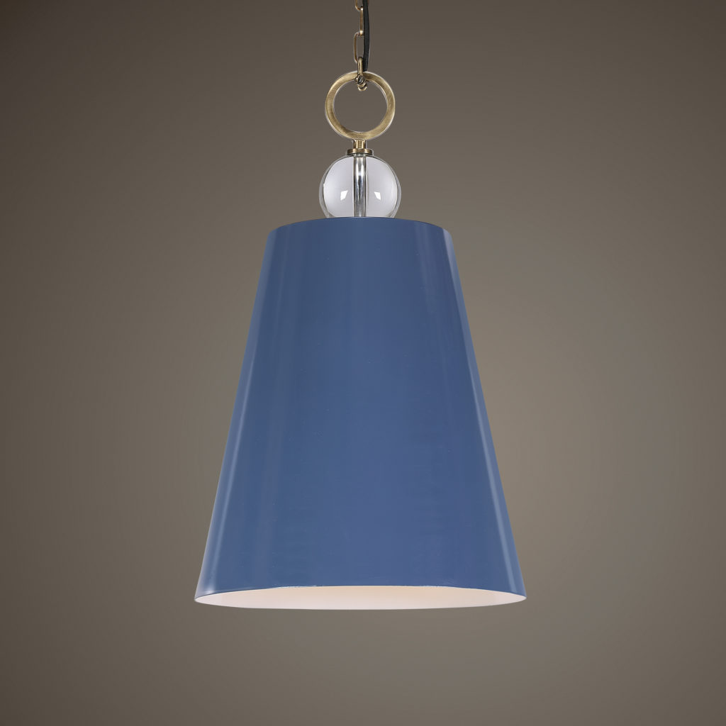 Delray Blue 1 Light Pendant