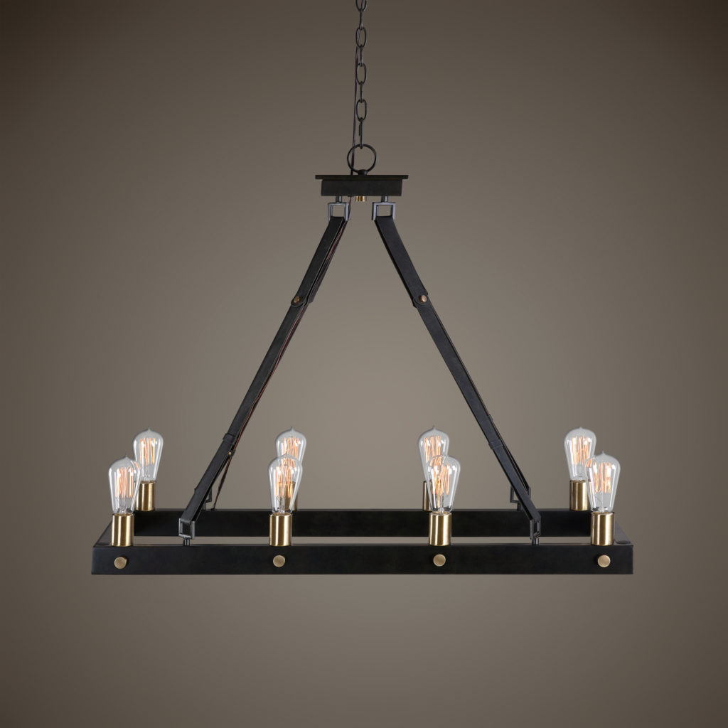 Marlow 8 Light Rectangle Chandelier