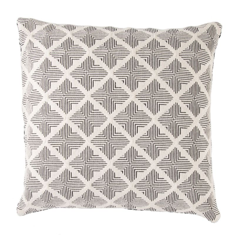Castanet Tribal Black + White Down Throw Pillow