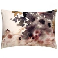Purple + White Floral Down Throw Pillow