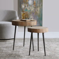 Samba Wood Nesting Tables S/2