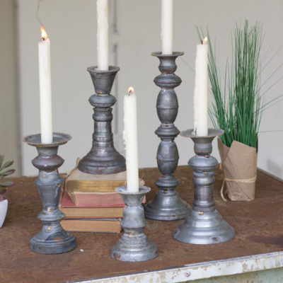 Zinc Farmhouse Candle Set